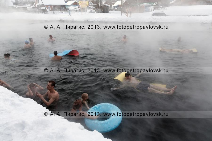 Бассейн с термальной водой в селе Эссо