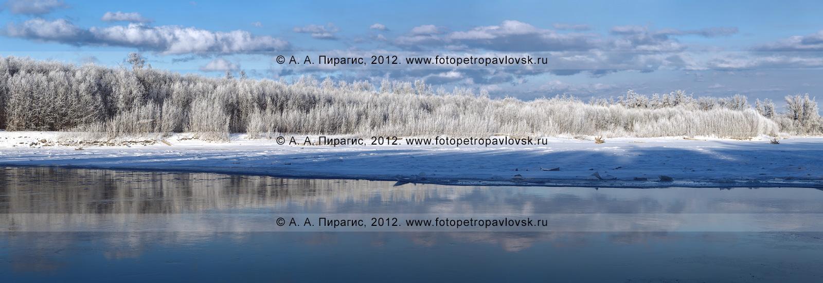 Река Камчатка зимой
