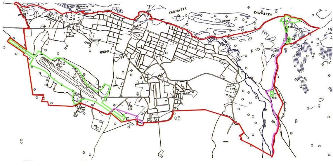 Карта территории Ключевского сельского поселения