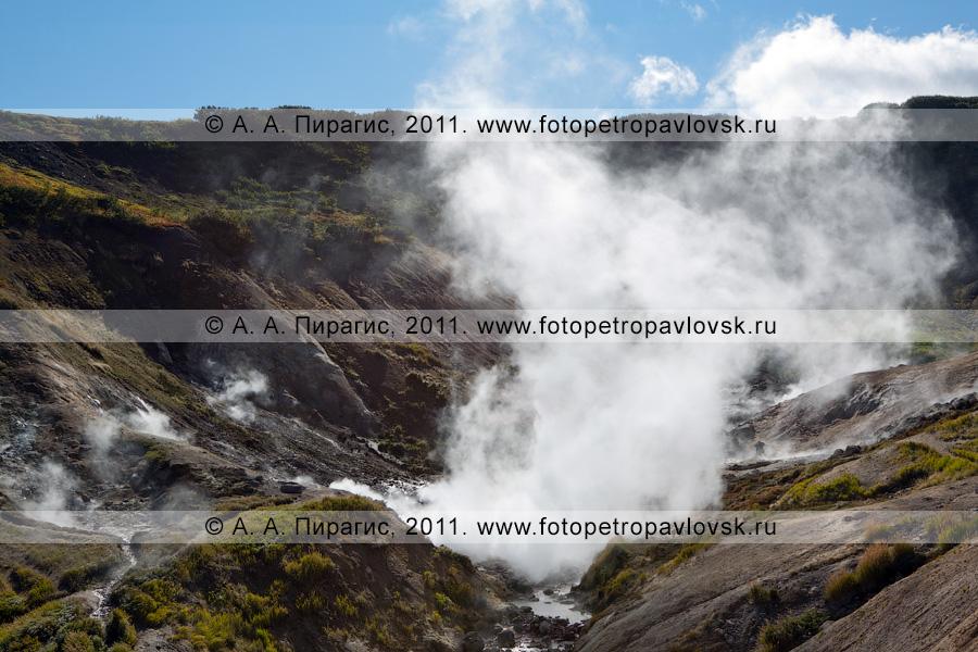 Дачные термальные источники на полуострове Камчатка
